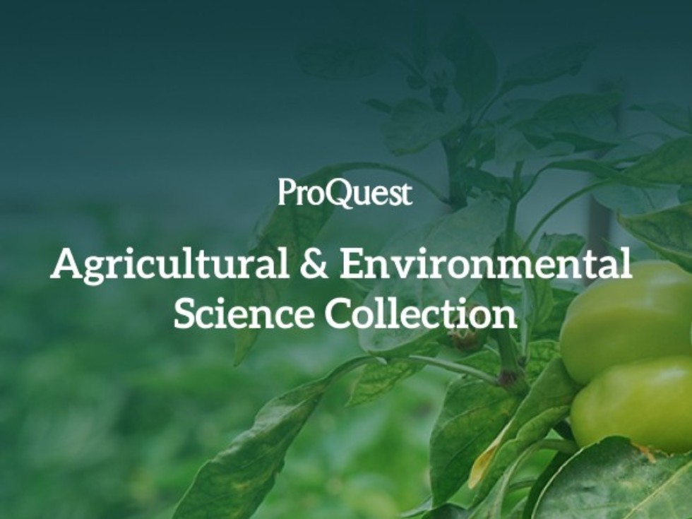 Доступ к базе данных Agricultural & Environmental Science Collection